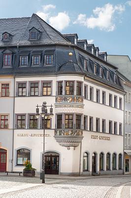 图林根州,药房,德国,多色的,斯德哥尔摩老城,角落,凸窗,市场广场,垂直画幅,窗户