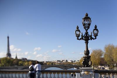 巴黎,倾斜视角,亚历山大三世桥,塞纳河,纪念碑,天空,水平画幅,古典式,伴侣,户外