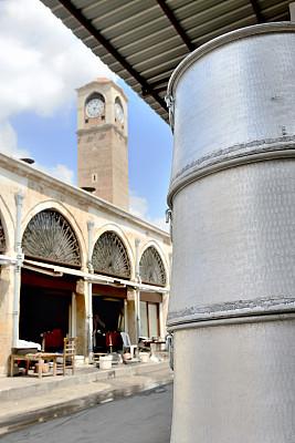 钟塔,阿达纳,垂直画幅,纪念碑,外立面,无人,时间,户外,锅,工艺品