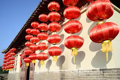 灯笼,红色,传统节日,中国元宵节,水平画幅,银行,圣诞节,无人,纪念品,新年