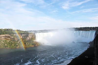 尼亚加拉瀑布,马蹄铁瀑布,尼亚加拉河,水,旅游目的地,水平画幅,瀑布,纽约州,户外,船
