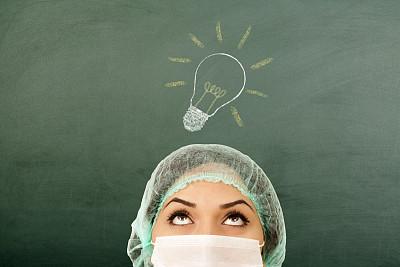 医科学生,制服,灯,仅成年人,想法,医药职业,专业人员,信心