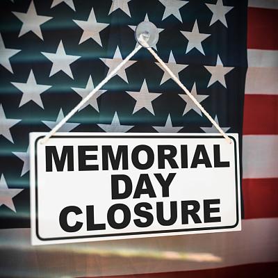美国阵亡将士纪念日,商店,关闭的,标志,关闭标志,商店标志,商店开业,橱窗展示,零售展示,易接近性