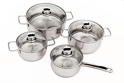 炊具,嫩煎食品,炖锅,风管,新的,水平画幅,铝,玻璃,组物体,干净