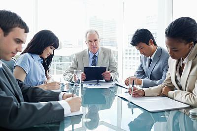 办公室,团队,井,经理,30到39岁,水平画幅,会议,套装,商务会议,白人