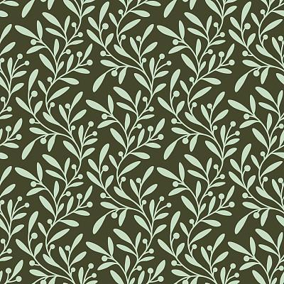 綠色,四方連續紋樣,枝,油橄欖樹,植物學,芥菜,式樣,無人,繪畫插圖,柔和色