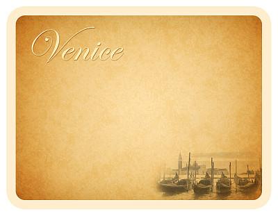 贺卡,威尼斯,1937,蜉蝣,20世纪风格,1930年-1939年,邮戳,留白,水平画幅,无人