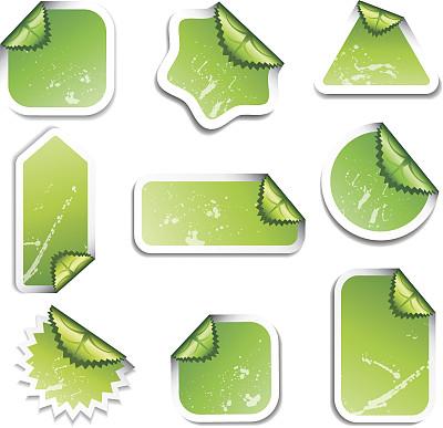 标签,绿色,留白,纹理效果,绘画插图,符号,代表,纸板,文档,商业金融和工业
