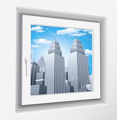 透过窗户往外看,拉凡他那石拱,天空,未来,外立面,无人,绘画插图,巨大的,计算机制图,计算机图形学