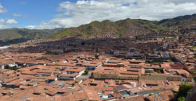 库斯科市,屋顶,秘鲁,瓦,旅游目的地,水平画幅,山,建筑,无人,城市