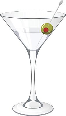 马提尼,马提尼酒杯,苦艾酒,杜松子,绘画插图,玻璃,玻璃杯,鸡尾酒,含酒精饮料,饮料