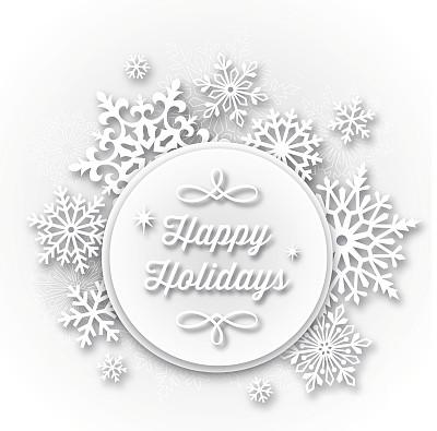 贺卡,节日,白皮书,雪花,留白,圆形,边框,圣诞卡,无人