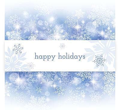 节日,贺卡,散焦,背景,雪花,圣诞卡,留白,边框,雪