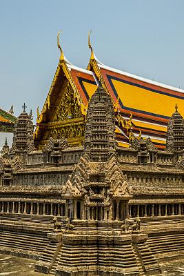 建筑,曼谷,模型,普密蓬阿杜德,玉佛寺,垂直画幅,灵性,户外,云景,泰国