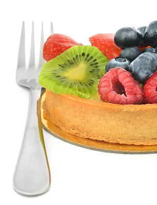 点心派,糖衣蛋糕,横截面,部分,奶油蛋糕派,清新,一个物体,背景分离,偏好,食品