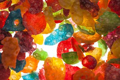 色彩鲜艳,玉米片,饮食,式样,清新,水平画幅,绿色,橙色,无人,蓝色