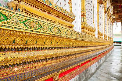 拱廊,寺庙,郑王庙,黄金,外立面,水平画幅,建筑,无人,户外,石材