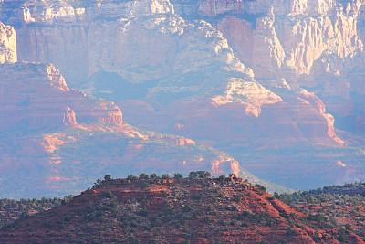 台地,红岩石,极端地形,峡谷,沙漠,矮橡林,塞多纳,红石州立公园,高地,野外定向