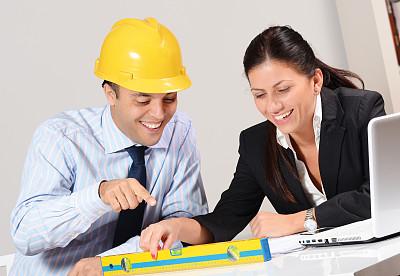 工程师,团队,儿童,现代,办公室,女商人,两个人,笔记本电脑,建筑承包商,水平画幅