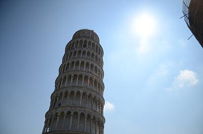 比萨斜塔,比萨,天空,教堂,水平画幅,草坪,旅行者,户外,国际著名景点,著名景点