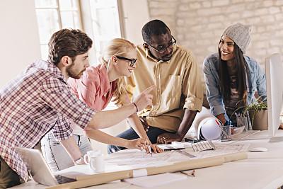 设计师,人群,留白,非裔美国人,男商人,文档,男性,想法,建筑业,青年人