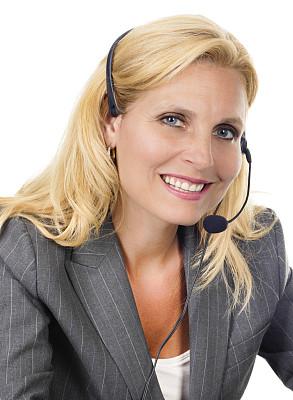 耳麦,注视镜头,女人,笔记本电脑,总机人员,免提装置,蓝牙,垂直画幅,美,电话机
