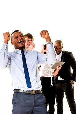 商务人士,挥动拳头,年龄对比,集体照,垂直画幅,套装,男商人,仅成年人,青年人,专业人员