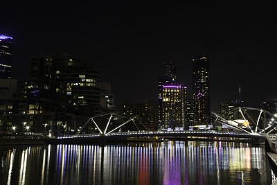 夜晚,墨爾本,皇冠娛樂中心,弗林德斯街站,亞拉河,澳大利亞文明,天空,留白,曙暮光,圖像