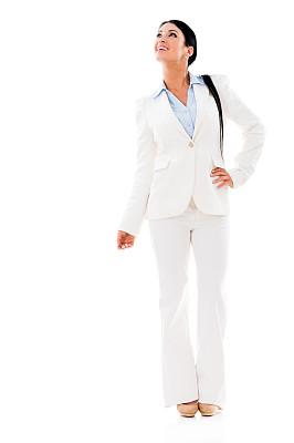 女商人,垂直画幅,美,留白,拉美人和西班牙裔人,美人,套装,仅成年人,白领,青年人