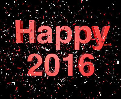 幸福,2016,猴年,贺卡,新的,绘画插图,新年,闪烁发光,现代,新年前夕
