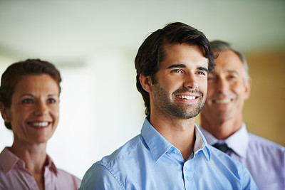 表现积极,混合年龄,办公室,美,留白,领导能力,水平画幅,美人,人群,白人