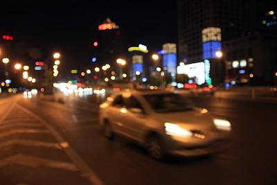 抽象,运动模糊,路灯,背景,水平画幅,夜晚,无人,交通,灯,大量物体
