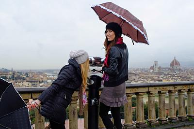 佛罗伦萨,友谊,乐趣,维基奥桥,旅行者,周末活动,仅成年人,青年人,国际著名景点
