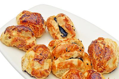 奶酥,甜面包,餐具,奶制品,水平画幅,无人,开胃品,烘焙糕点,奶酪,塞满了的