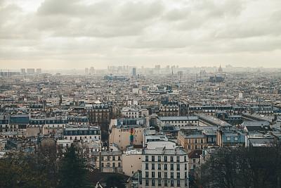 城市,巴黎,天空,水平画幅,符号,古老的,旅行者,户外,都市风景
