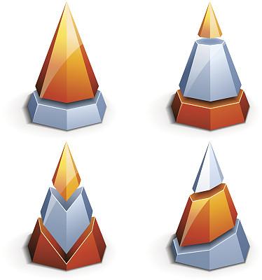 化学元素周期表,式样,概念和主题,灵感,形状,橙色,圆锥,无人,绘画插图,符号