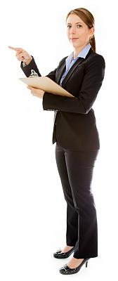 女商人,白色背景,白色人种,分离着色,记分板,垂直画幅,留白,套装,文档