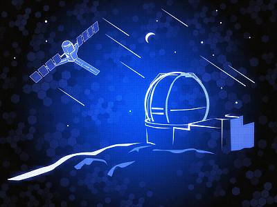 天文学,天文望远镜,太空视角,卫星天线,月球,行星月亮,留白,未来,水平画幅,轨道运行