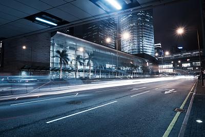 交通,拖车场,启德机场,蓝色,夜晚,无人,陆用车,户外,都市风景,照明设备