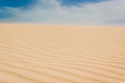 空的,沙漠,沙尘暴,富埃特文图拉岛,丘陵,撒哈拉沙漠,天空,留白,风,水平画幅