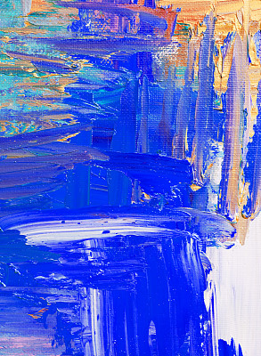 纹理效果,蓝色,抽象,涂料,黄色,背景,丹配拉画法,垂直画幅
