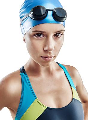 奥运会,游泳帽,垂直画幅,水,留白,健康,仅成年人,青年人,运动