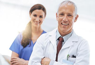 健康保健,病房,正面视角,留白,水平画幅,注视镜头,智慧,医疗保险,制服,白人