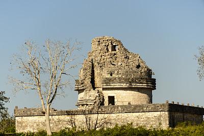 艾卡拉酷,契晨-伊特萨,尤卡坦州,天文台,玛雅文明,墨西哥,纪念碑,古代文明,灵性,水平画幅