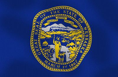 内布拉斯加,组图,美国州旗,正面视角,美国,地名,水平画幅,无人,符号,计算机制图