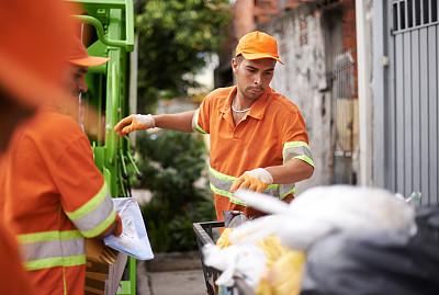 职业,速度滑冰,肮脏的,it技术支持,街道清洁工,清洁工,垃圾车,垃圾,留白,水平画幅