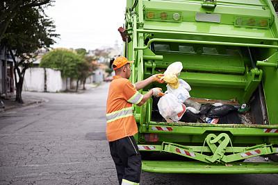 it技术支持,街道清洁工,垃圾车,清洁工,路边,自动反斗卡车,粗棉布裤,垃圾场,混沌,垃圾