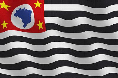 圣保罗州,巴西,美国州旗,组图,计算机制图,水平画幅,无人,符号,正面视角,2015年