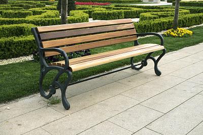 长椅,安逸,十月,安静,背景分离,景观设计,公园长椅,草,自然美,草皮