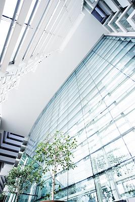 走廊,现代,办公大楼,垂直画幅,办公室,未来,墙,无人,玻璃,天花板